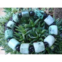 Brazalete Grande En Jade Verde