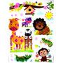 Stickers Calcos Vinilos Autoadhesivos Animales Infantiles 5d