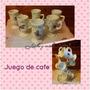 Juego De Cafe Con Soporte Acero Inox.