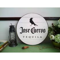 Cuadro Anuncio Letrero Tequila Cuervo Madera Bar Cantina
