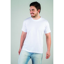 Camiseta Básica Lisa - Branca - Fio 30/1 - 100% Poliéster