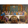 Quadro Santa Ceia 120x180cm Pintura Sacra Óleo Sobre Tela