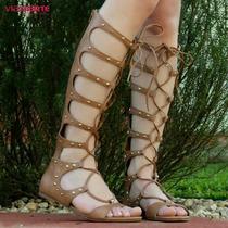 Sandália Via Marte Gladiadora Boho Chic   Zariff