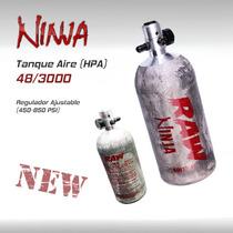 Tanque Aire Hpa Ninja 48 3000 Pistolas Arma Gotcha Paintball