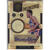 2010-11 Gs Gold Mining Autografo Bernard King 69/99 Knicks