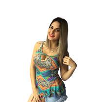 Blusa Peplum Feminina Várias Estampas Promoção Black Friday