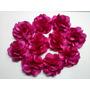 10 Flores De Cetim 8cm Atacado Tiara