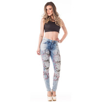 Calça Jeans Feminina Cigarrete Gold Hot Pants Skinny - Luste