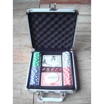 Juego De Poker En Valija De Aluminio Ficha De 11,5gr Numerad