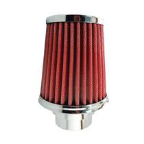 Filtro Ar Esportivo Duplo Fluxo Pequeno 12 Cm - Vermelho