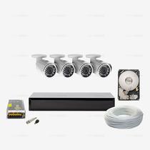 Kit Monitoramento 320gb Ahd 04 Câmera Infravermelho Ccd Sony