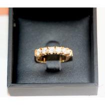 Meia Aliança Vivara Em Ouro 18k Com 90 Pontos De Diamantes