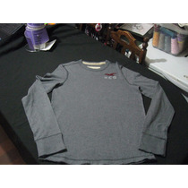 Polera Hollister California Talla S Manga Larga Color Gris