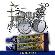 2 Massa De Polir Metal Instrumentos Musicais Bateria Pratos
