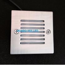 Balizador Parede Piso Externo Ip66 2w Led 3000k Quadrado