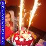 Vela Bengala, Volcan, Fiestas Y Cumpleaños X 6 Unidades