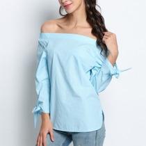 Blusa Top Camisa Hombros Descubiertos Moda Asia Envío Gratis