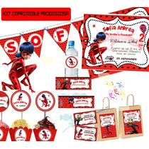 Kit Imprimible Prodigiosa, Ladybug Personalizado Candy Bar