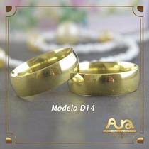 Alianças Ouro 12k 7mm Tradicionais-frete Grá-12x S/jur D14