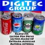 Parlante Portatil Fm-mp3-lec Lata Coca Pepsi Cervez--córdoba