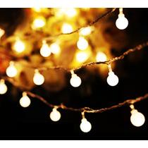 Serie Luz Led Focos Esfera Pilas Xv Mesa Vintage Navidad