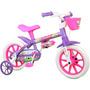 Bicicleta Bicicletinha Infantil Feminina Aro12 Violet Nathor