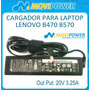 Cargador Movipower Para Lenovo 20v 3.25a - Punta 5.5x2.5mm