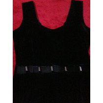 Vestido Negro Tipo Pana 47 Street. Impecable!!!