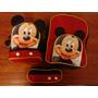 Combo De Bolsos Escolares Para Niños Con Mickey Mouse