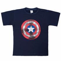 Camisa Manga Curta Infantil Atacado Homem De Ferro Kit 30 Pç
