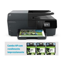Impressora Hp 6830 Multifuncional Clorida Usb + 3 Cartucho D