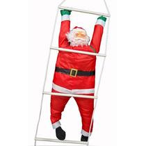 Papai Noel Natalino Na Escada Escalador Natal Enfeite