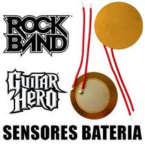 2 Sensores Bateria Rock Band Guitar Hero Xbox 360