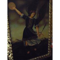 Pintura San Miguel Óleo/tela 60x90 Cm Autor: Gonzalo Perez