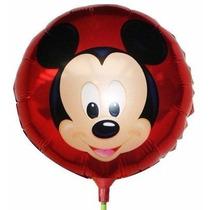 Kit 20 Balão Metalizado Mickey 21cm Enfeite Centro Mesa Inf.
