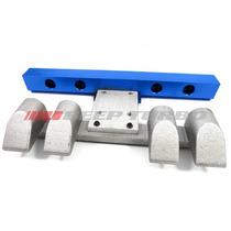 Kit Flauta + Suporte Alumínio Gol Ap Mi Beep Turbo Azul