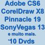 Adbe Cs6 Win Ou Mac Em 10 Dvds + Extras Profissionais F.grát