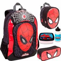 Kit Mochila Costas Homem Aranha Spider Man 16z - Boleto