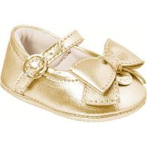 Pampili Sapatilha Bebê Nina Recém Nascido Dourado 13 Ao 18