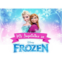 Kit Imprimible Frozen- Tarjetitas, Candy, Bolsitas