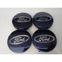 Kit Calotinha Centro De Roda Ford Focus Azul 55mm.