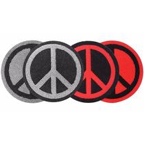 Alfombra Felpudo Redondo Simbolo De La Paz - Varios Colores