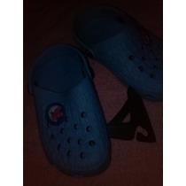 Chola Azul Claro Con Osito N°32 Niña