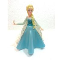 Adorno Para Torta De Princesa Elsa En Porcelana Fría 13cm
