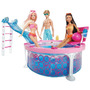 Piscina Glam Barbie Con Tobogan Original Mattel