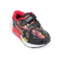 Zapatillas Disney Addnice Cars Retro Velcro Con Luz