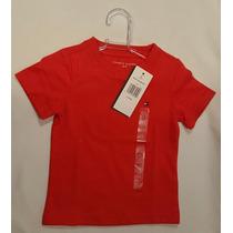 Camiseta Tommy Hilfiger Infantil Bebê Laranja 6-9m Original