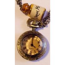 Alice In Wonderland Conejo Drink Me Con Botella Reloj Dije