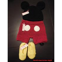 Traje De Mickey Mouse Tejido A Crochet