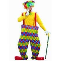 Traje Del Payaso - Rainbow Adulto Bufón Vestido De Lujo One